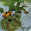 Kerti dísz - zöld hortenzia koszorú