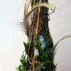 Tavaszfa természetes díszítéssel, barkával, tollakkal