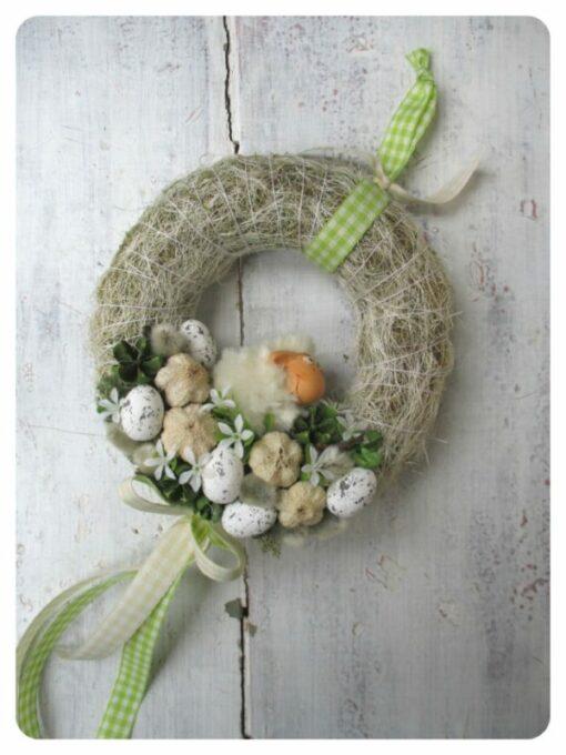Kis baris húsvéti ajtókoszorú