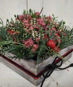 Virágos-csipkebogyós őszi doboz megemlékezésre