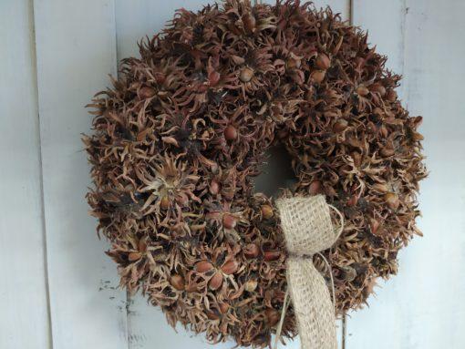 Természetes őszi ajtókoszorú