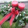 Karácsonyi mohakoszorú temetőbe