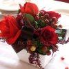 Asztaldísz vörös színben