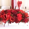 Főasztaldísz vörös színben
