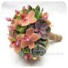 Menyasszonyi csokor pozsgásokkal és Phalaenopsis orchideával