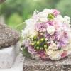 Menyasszonyi csokor pasztell lilában