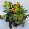 Menyasszonyi csokor greenery - narancs